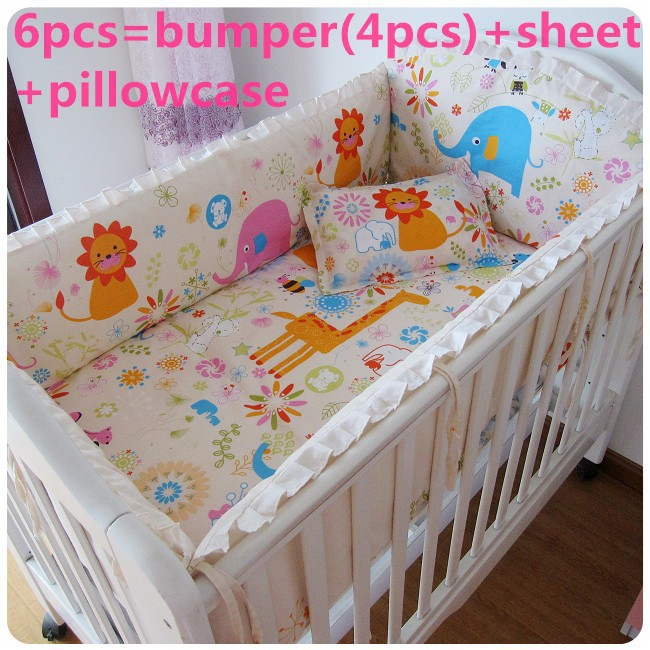 promotion 6pcs bedding sets baby baby crib bedding set for cheap sale bumpers sheet pillow. Black Bedroom Furniture Sets. Home Design Ideas