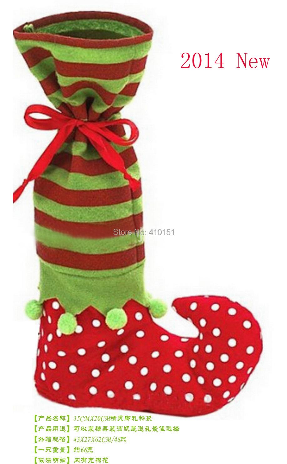 2014 Hot!!! OEM Christmas articles 200PCS 35cm*20cm Christmas gift bag, candy bag for Christmas(China (Mainland))