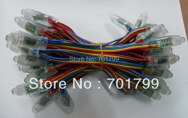 WS2801 IP68 led pixel module,256scale gray,IP68;4wire(red/green/blue/black)DC5V input;50pcs a string