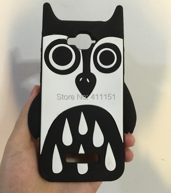 3D Owl Silicone Soft Cover Back Case FOR Alcatel One Touch POP C7 OT 7041D - ALEX ZHOU Store store