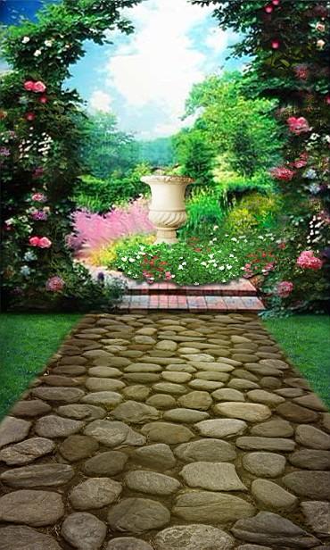 600CM*300CM background Garden arches Stone Road photography backdropsvinyl photography backdrop 3423 LK <br><br>Aliexpress