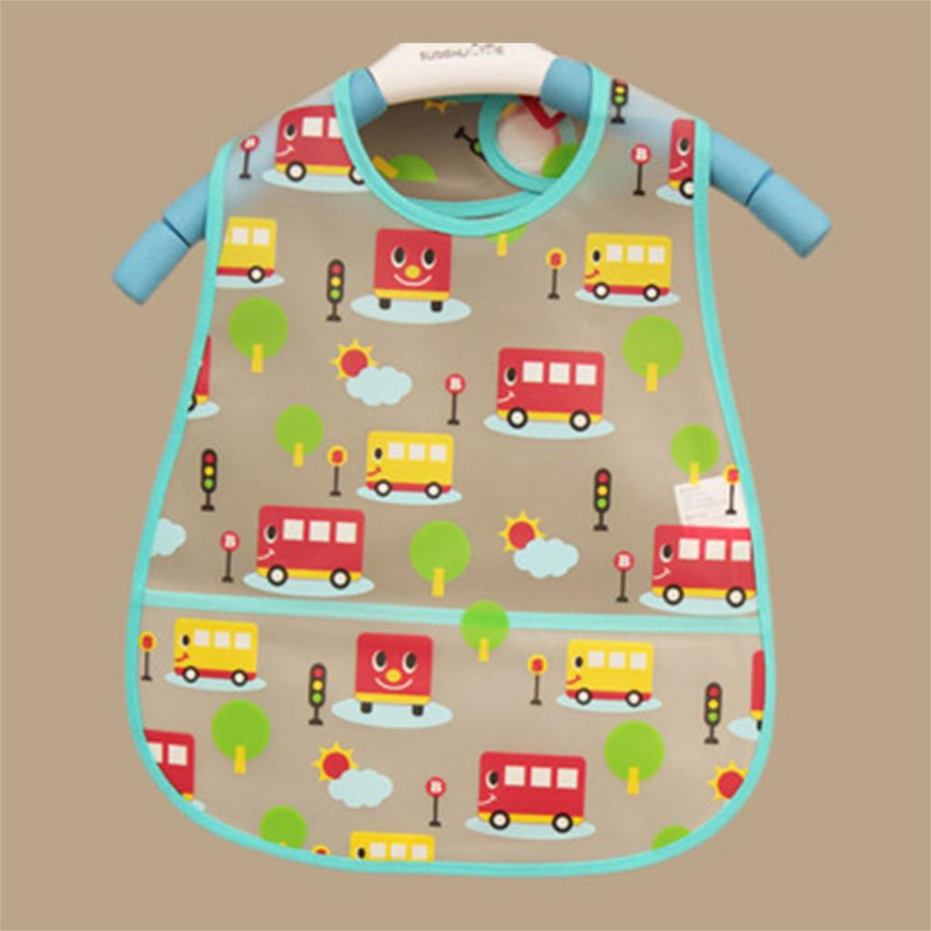 2015 Fashion Baby Bibs Waterproof Colorful Bus Cartoon Children Bibs Infant Burp Cloths Clothing Towel For Baby Girls Boys