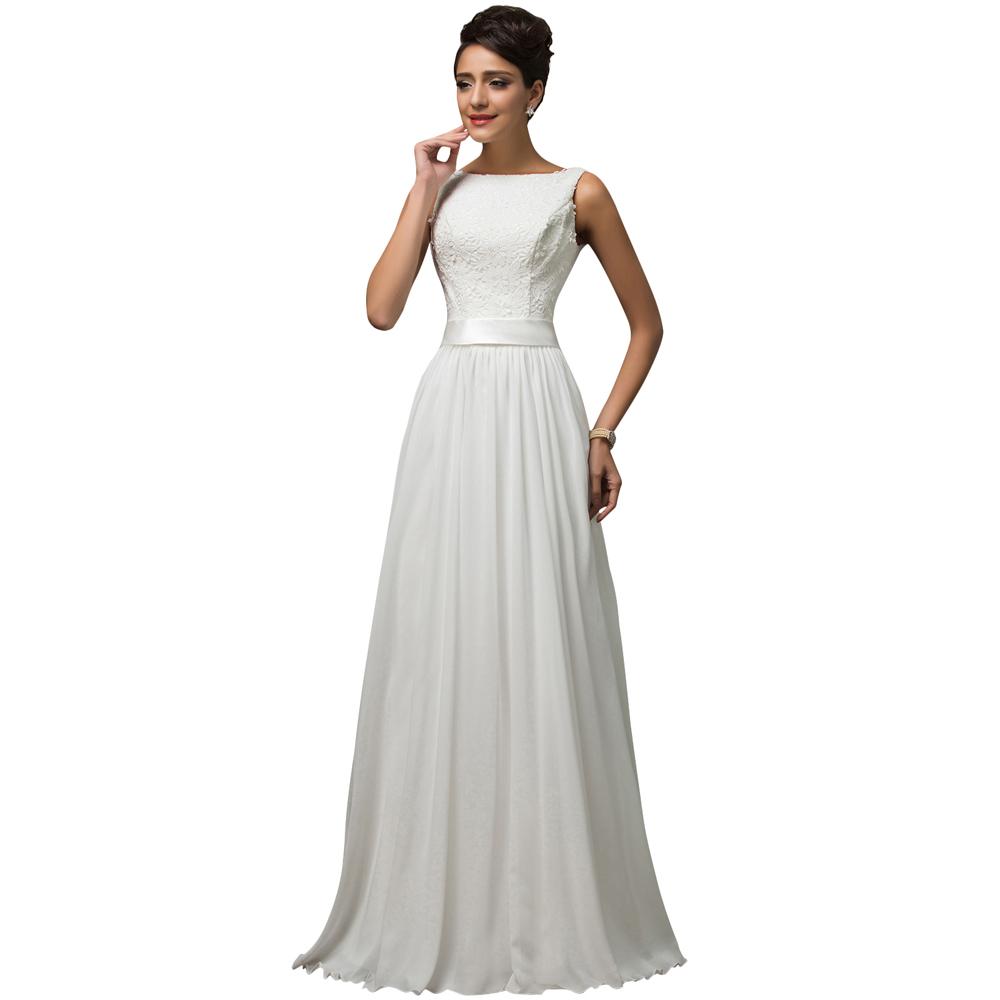 White Lace Top Bridesmaid Dress 2017 Grace Karin Long Cheap Wedding Chiffon Bridesmaid Dresses Prom Dresses Robe De Mariage(China (Mainland))