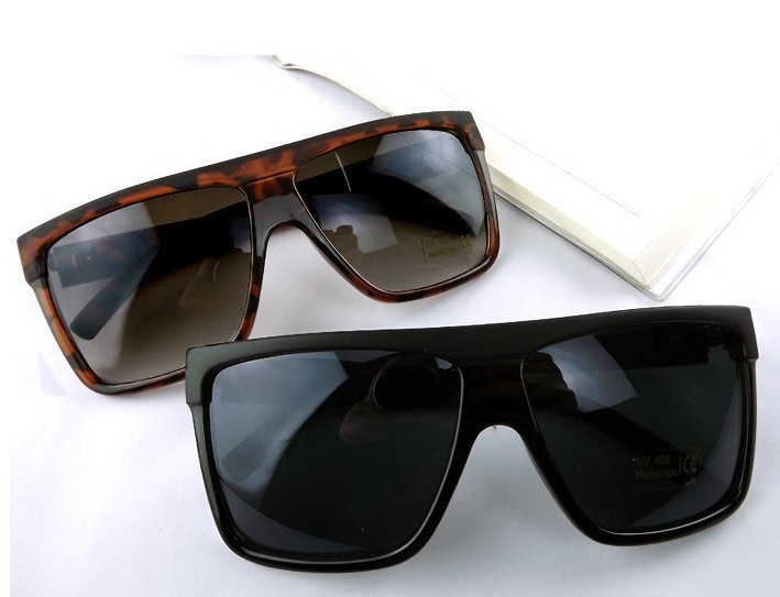 Big Frame Sunglasses : 2015-fashion-vintage-square-frame-flat-top-big-box ...