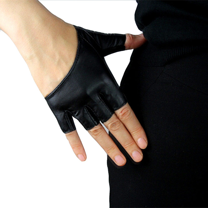 Party Fingerless Gloves Women Sheepskin Mittens For Driving Sexy Gloves Half Palm Hot Sale Free Shipping(China (Mainland))