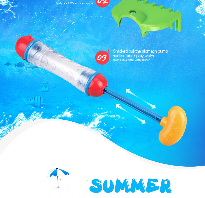 10m Lengthy vary Air Stress Water Gun Youngsters's Lengthy-range Summer time Seashore Shovel Rake Form Water Weapons Swimming Toys