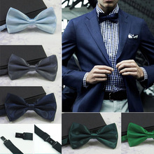 New Adjustable Men's Multi  Silk Pine Bow tie Wedding Party Necktie Bowtie For Men Candy Solid Colors Neckwear Pre-Tied 19525(China (Mainland))