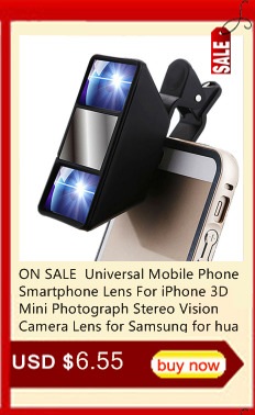 Universal Mobile Phone Lenses 3D mini Lens With Clip Fisheye Stereoscopic Camera Len lentes for iPhone Samsung Camera for huawei