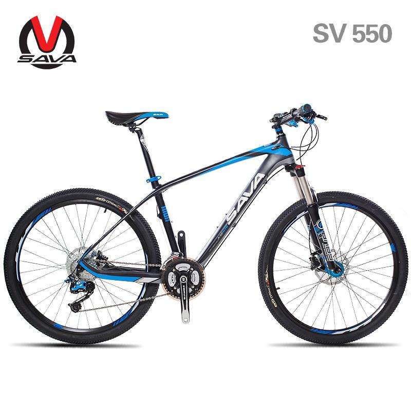 "SAVA 26""/27.5"" Carbon Fiber Frame MTB Mountain Bike-SV750/SV550 27S/30S Bicycle Cycle Bicicleta SHIMANO Hydraulic Brake 3 Colors(China (Mainland))"