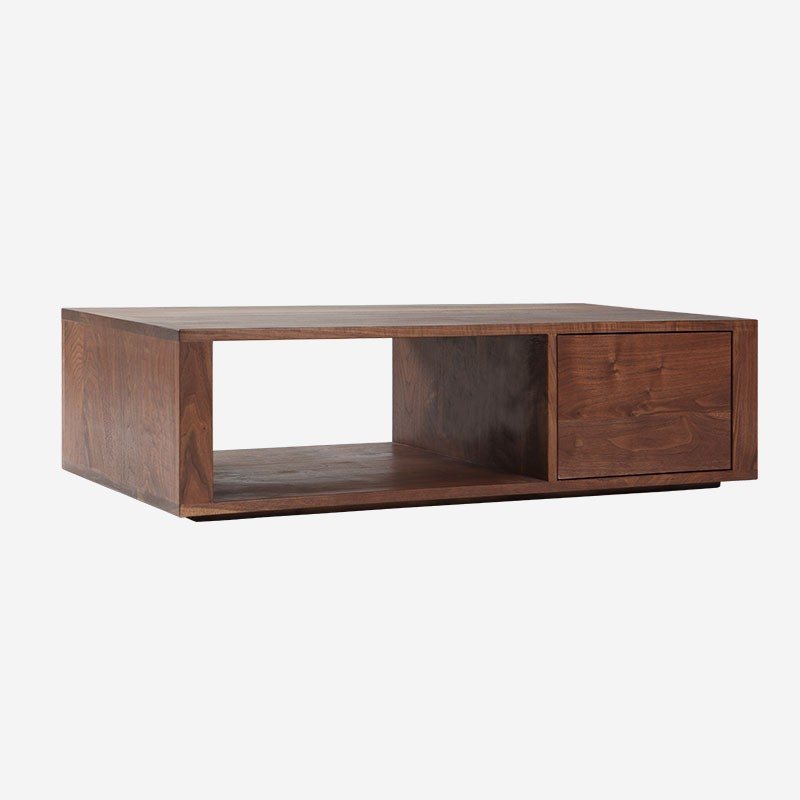 Simple Solid Wood Furniture Walnut Coffee Table Rectangle