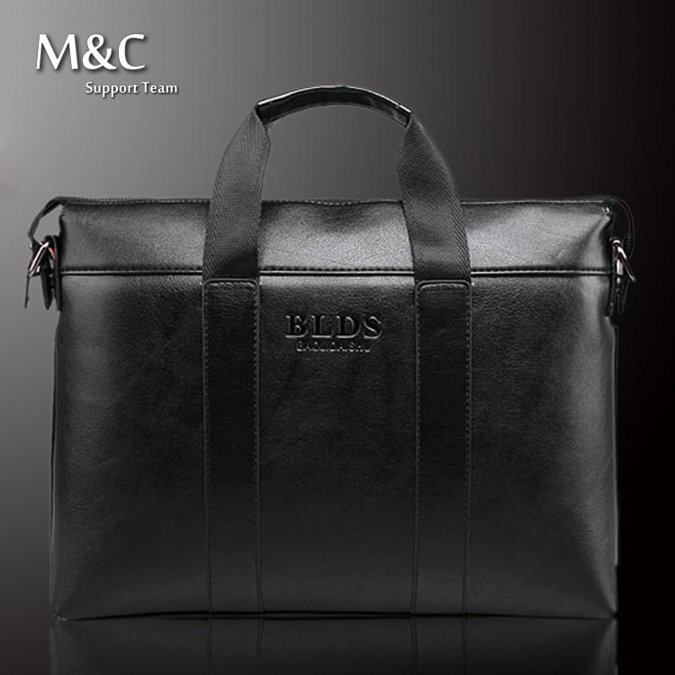2015 Men Briefcase Business Shoulder Bags Genuine Leather Bag Handbag Men Messenger Bag Laptop Men's Travel Bags OB-014(China (Mainland))