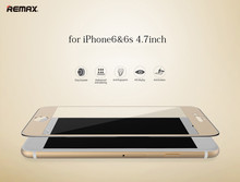 Remax Full cover screen protector Metal+steel Texture Toughened Tempered Galss HighGrad for iPhone 6 6s 4.7 inch high quality