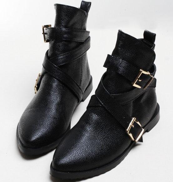 Brilliant New Womens Knee Boots Slouchy Low Heel Biker Boots Fur Lined Winter Shoes Sz 3-8[KHAKI6 ...
