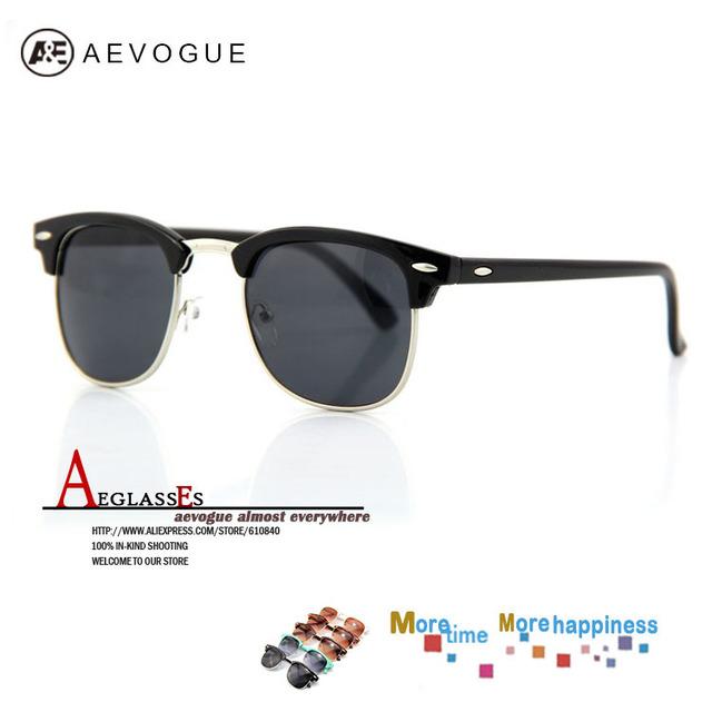 Aevogue унисекс солнечные очки мужчины винтажный самые солнцезащитные очки UV400 с чехол gafas / óculos de sol 20 шт. / lot AE0074