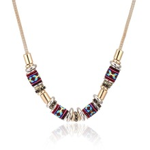 Fashion Bohemian Necklace Women Jewelry 18k gold plated Chain za necklace choker collares muticolor necklace Jewelry for women(China (Mainland))