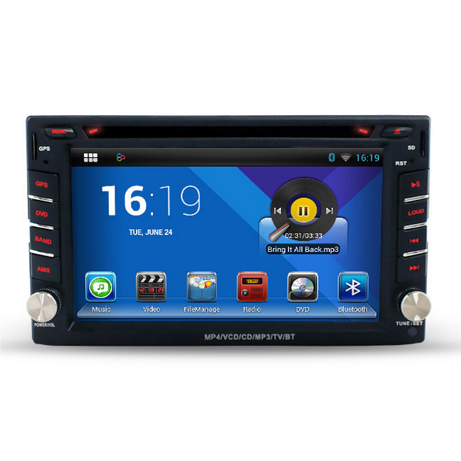 Free Shipping, Cortex A9 1.6GHz Capacitive Screen Android 4.4 2 Din Car PC With DVD GPS 3G WiFi OBD DVR Stereo Radio(China (Mainland))
