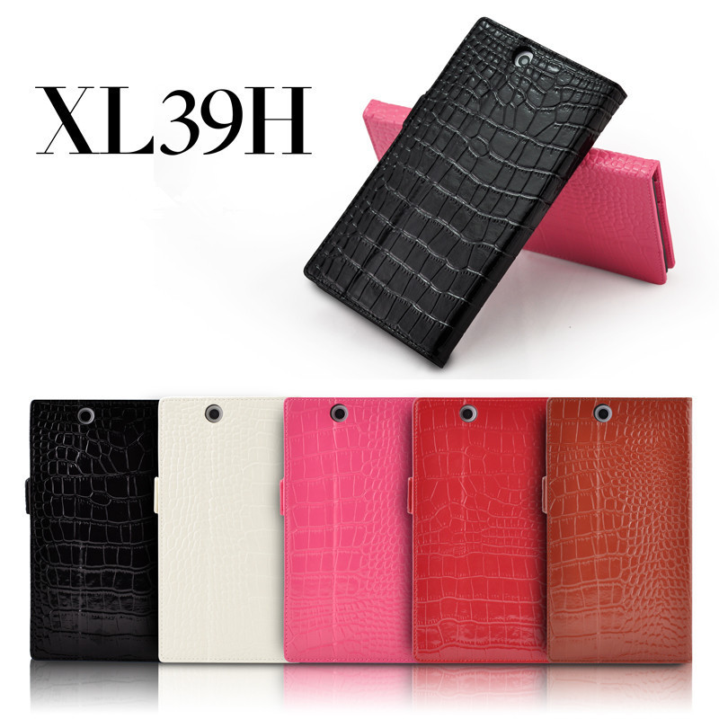 Luxury Crocodile Flip Cover Genuine Leather Wallet Case Sony Xperia ZU Z Ultra XL39H - jess huang's store