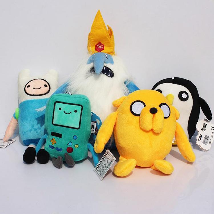 5pcs/lot Adventure Time Plush Toy Doll Finn Jake BMO Ice King Penguin Cartoon Plush Adventure Time Toys Soft Stuffed Dolls Gifts(China (Mainland))