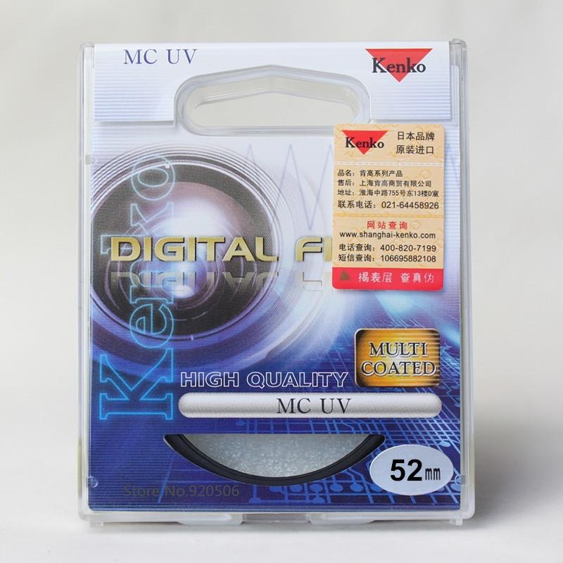 Kenko 52mm MC UV Multilayer Coating Camera UV Filter For Pentax Canon Nikon Sony Olympus Leica Camera Lens(China (Mainland))