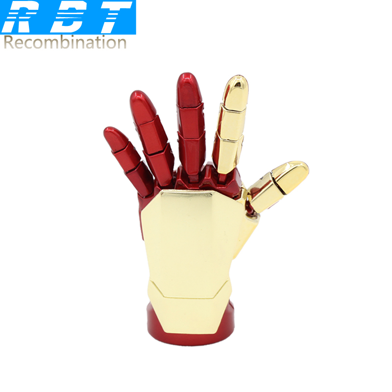 2015 RBT Real Capacity The Avengers Iron Man Hand LED 8GB 16GB 32GB Pen Drive Pendrive Usb Flash Drive For PC Free Shipping(China (Mainland))