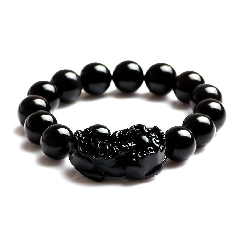 Free shipping 100% Natural Energy Stone/ Magic Health Bracelet /Black/ TV Report: promote blood circulation &remove blood stasis(China (Mainland))