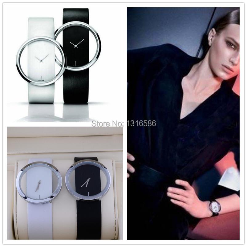 2015 Nice fashion designed Brand black&white ladies dress watches luxury women wristwatches quartz girls watch leather band(China (Mainland))