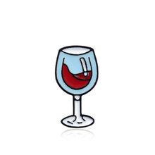 Anggur Pernikahan Waktu Anggur Merah Sangat Indah Botol Kaca Yang Indah Topi Bros Rok Sweater 1 PC/1 Set Unik Syal hot Sale(China)