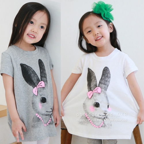 Kid Rushed Kids Free Shipping Summer 2015 Wholesale Cheap New Baby Rabbit Wear Long Sleeved T-shirt Tx-0966 Children's Clothes(China (Mainland))