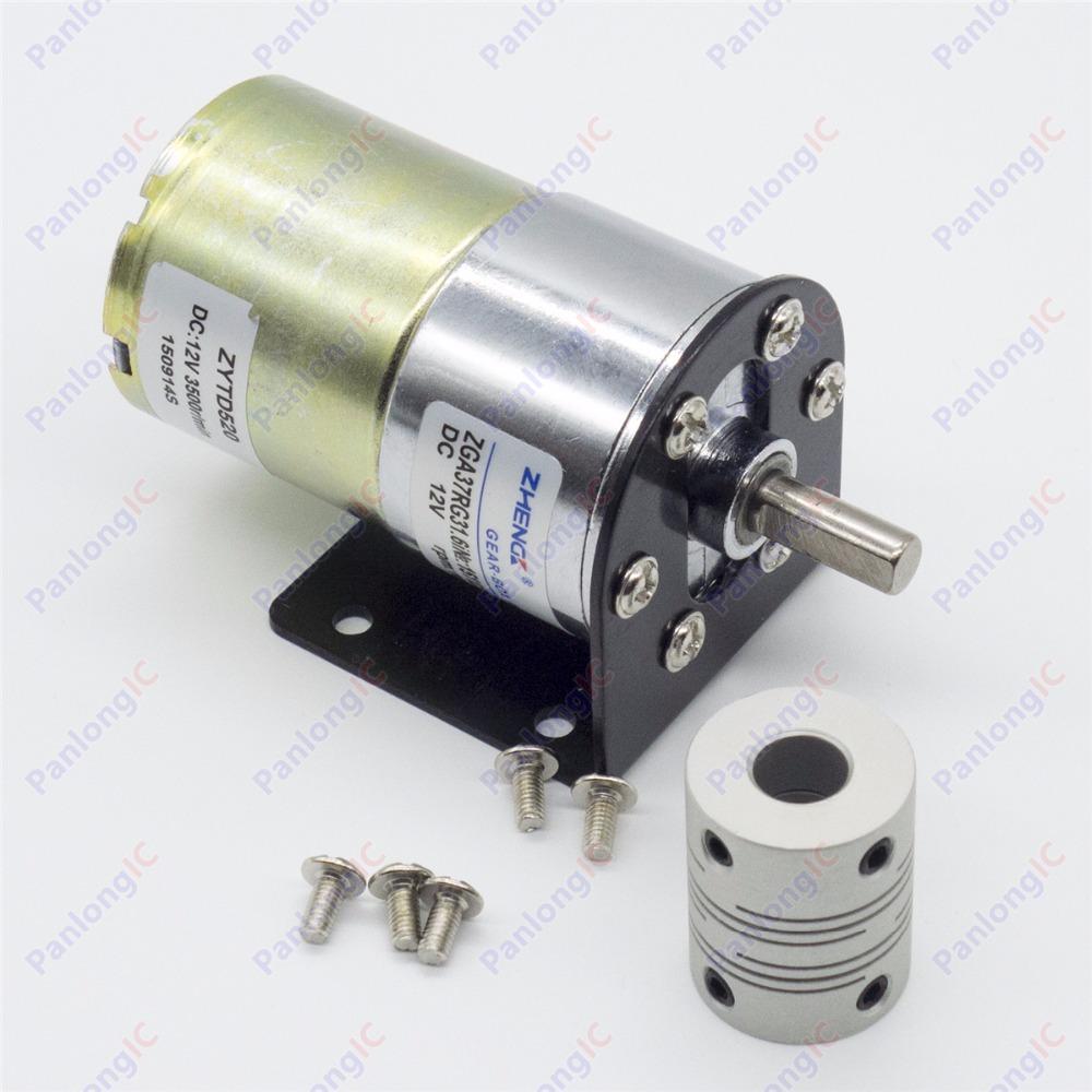 Zga37rg 12v Dc 100 Rpm Gear Box Motor 1 34 5 High Torque