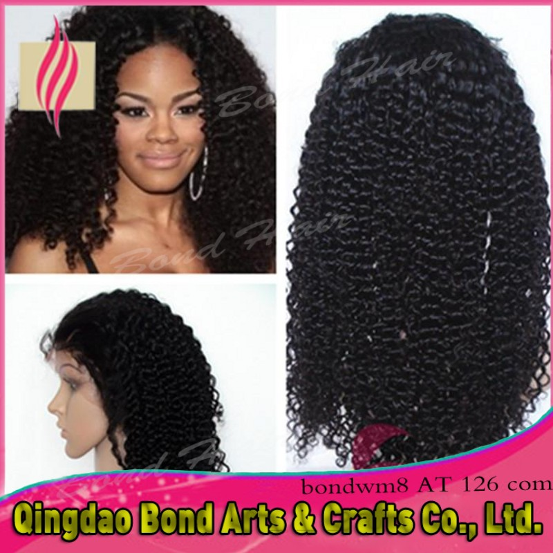 Premium hot Free Part kinky curl Brazilian Virgin human Hair Glueless Full Lace hair Wigs Baby Hair<br><br>Aliexpress