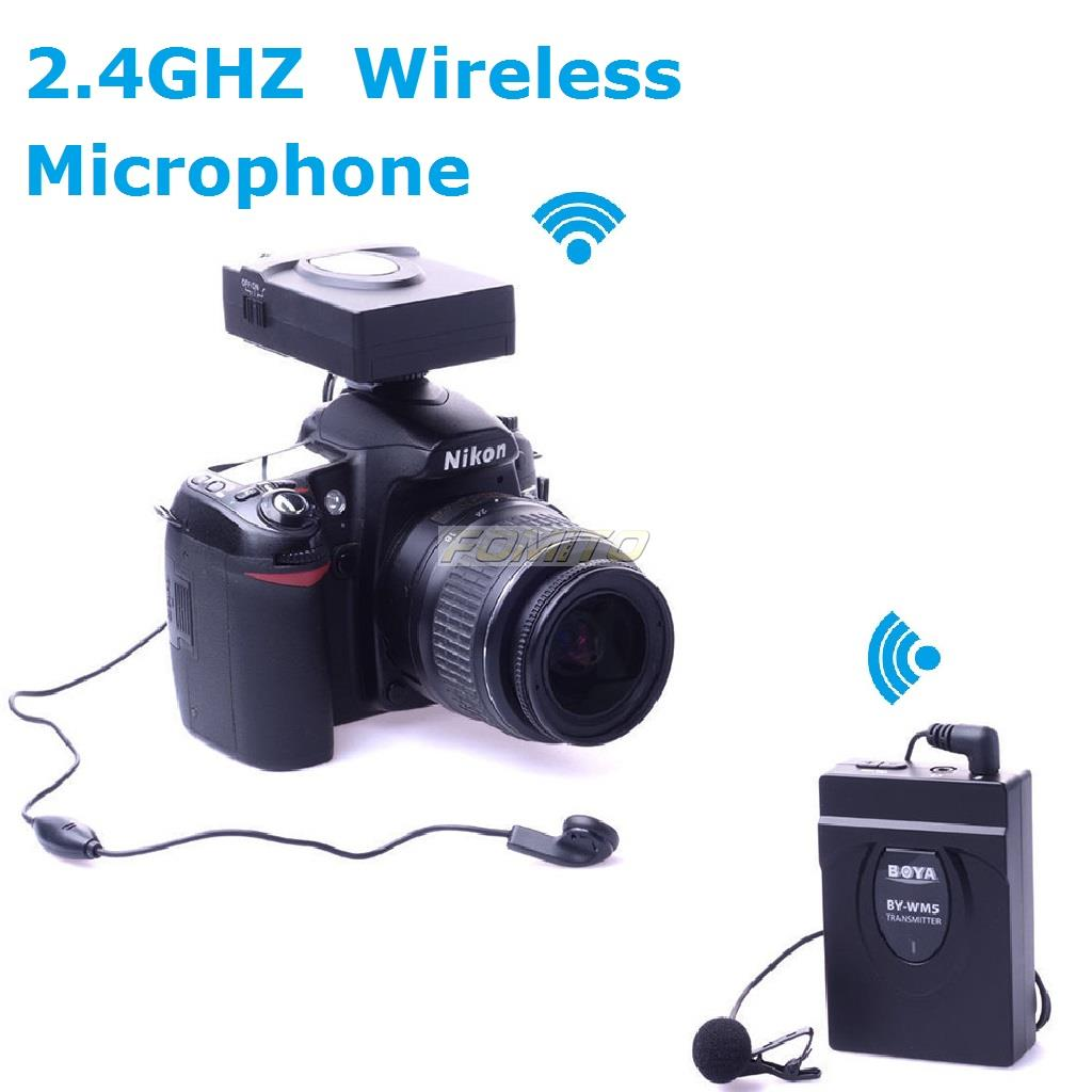 2.4GHZ Wireless Microphone BOYA BY-WM5 For DSLR Camera Camcorder Audio Recorder Microphone DV 5D3 5DS D800S VG900 VG30(China (Mainland))