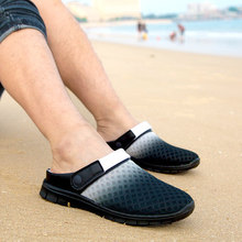 Man Woman 2016 New Hole Garden Cloges Shoes Plus Size Summer Net Flats Beach Sandals Mules Slippers Size 40 41 42 43 44 45 46(China (Mainland))