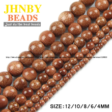 Buy JHNBY Top Natural Stone Golden sand stone beads Round Loose bead ball 4/6/8/10/12MM Handmade Jewelry bracelet making DIY Store) for $1.76 in AliExpress store