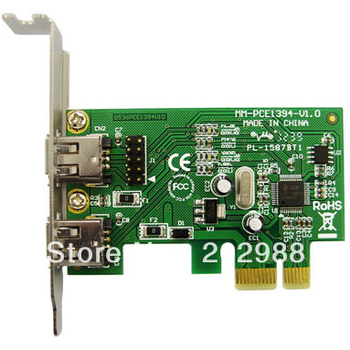 Hot sale!! IOCREST IEEE 1394A(2) Firewire PCI-e Controller Card with Header,Support Low Profile Bracket
