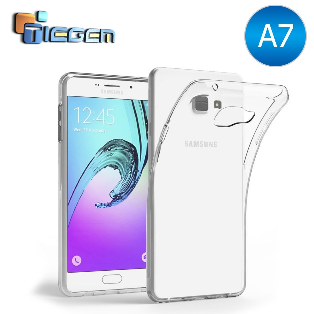 TIEGEM A7 (2016) A7100 Case For Samsung Ultra Thin TPU Gel Rubber Soft Silicone Protective Case for Samsung For Galaxy For A7100(China (Mainland))