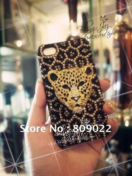 Wholesale Sweet Deco Bling Crystal, gorgeous leopard BLING DIAMOND CASE HARD COVER FACEPLATE FOR IPHONE 4 4s