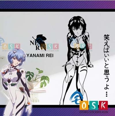 Japanese Cartoon Fans Neon Genesis Evangelion Ayanami Rei Vinyl Wall Stickers Decal Decor Home Decorative Decoration(China (Mainland))