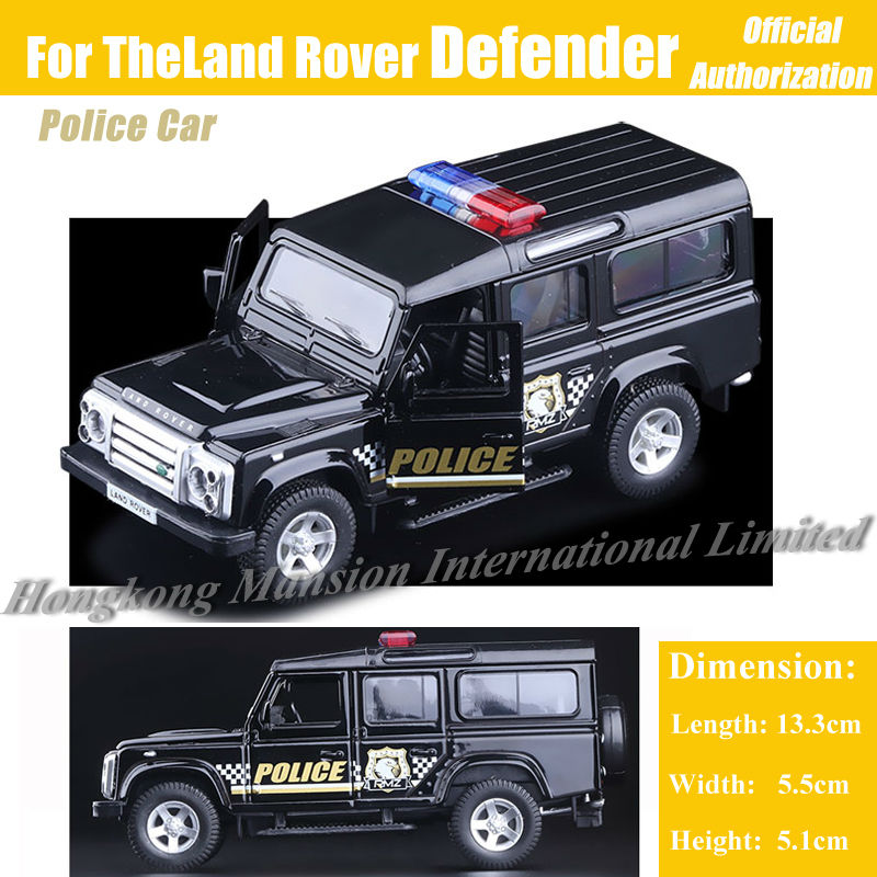 1:36 Scale Diecast Alloy Metal SUV Police Car Model For TheLand Rover Defender Collectible Model Collection Pull Back Toys Car(China (Mainland))