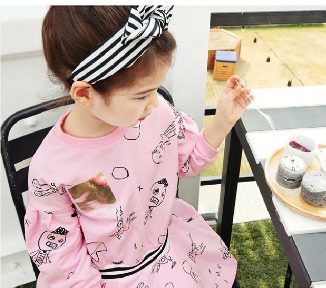 3-7T 2016 spring baby girl dresses baseball children clothing brand tennis dresses girl cotton t-shirts+skirt 2pcs set kids(China (Mainland))