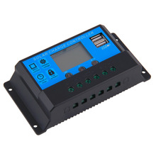 ¡ Venta caliente! 20A 12/24 V Auto Switch Solar Controlador de Carga Indicador LED 2 Puertos USB del envío libre