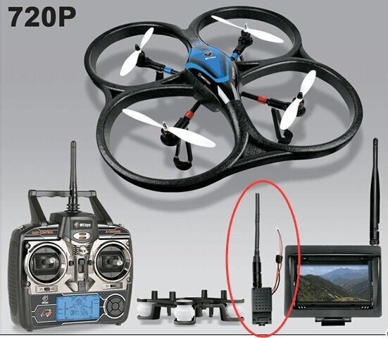 2015 newest V393 FPV 5.8Ghz big size brushless 4 axis rc drone with camera&monitor(China (Mainland))