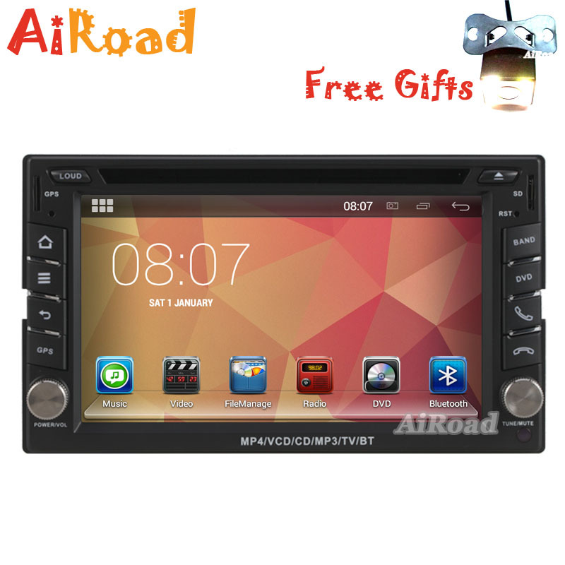 Quad Core 2 Din Android 4.4.4 Kitkat Universal Car DVD GPS Navigation ICE Headunits Autoradio Tape Recorder DVR OBD Mirror Link(China (Mainland))