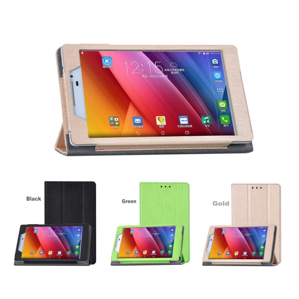High Quality PU Leather Case Stand Cover for 7 inch ASUS Zenpad 7.0 Z370CG (P01V) Tablet + Screen Protector Film(China (Mainland))