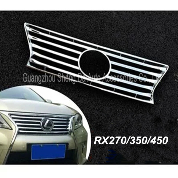 LEXUS RX270 RX350 RX450h Chrome Front Grille Around Trim Racing Grills Trim/Front Radiator Grille,Top Quality,for 2012 2013 2014(China (Mainland))