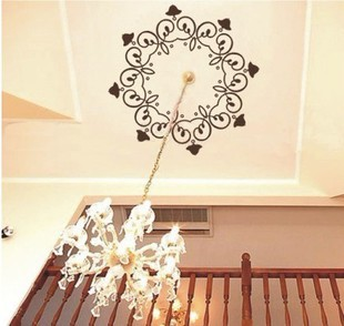 Pendant light round ceiling vintage elegant decorative pattern decoration fashion wall stickers lighting - newlly liu's store
