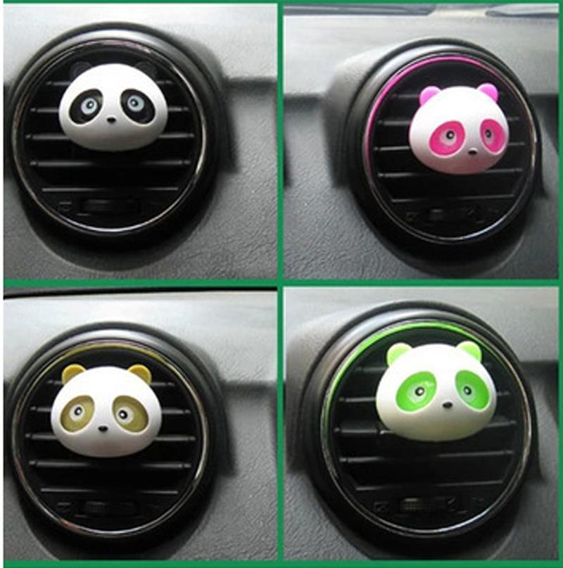 2016 car air freshener fragrances 100 originalautomobile air freshener perfume car styling Cute Panda Style 10,000 LB Rating(China (Mainland))