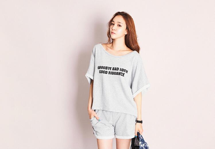 A3004 Women Cotton Korean Loose T Shirt Short Sleeve