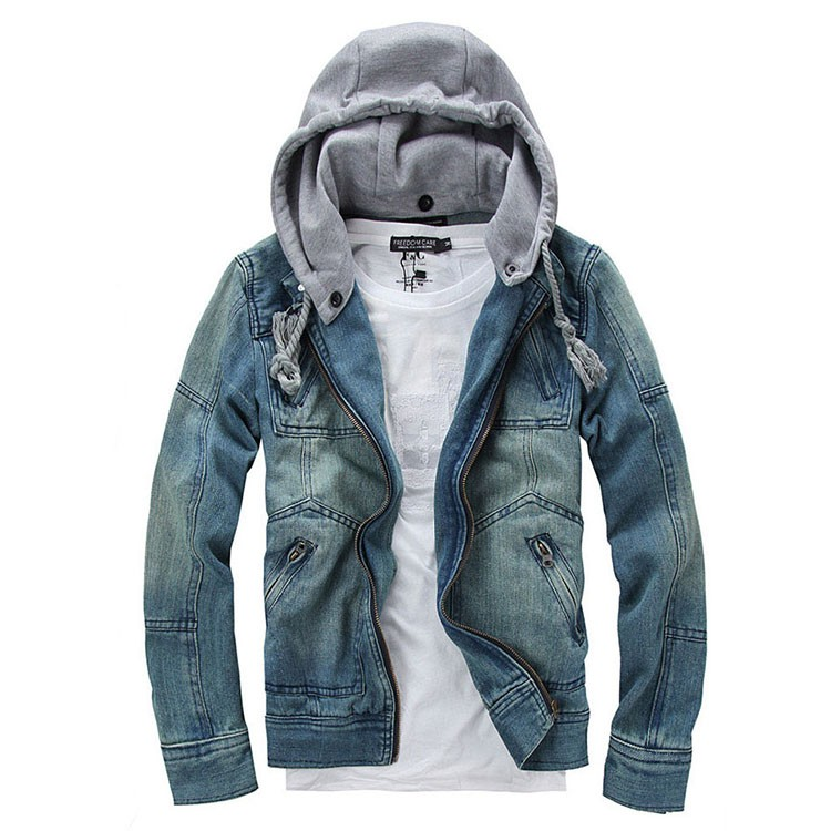 Denim Jacket men Hooded Jean Jackets streetwear Slim fit Vintage Mens Jacket and Coat outdoors Jeans clothing Plus size 4XL 5XL (1)