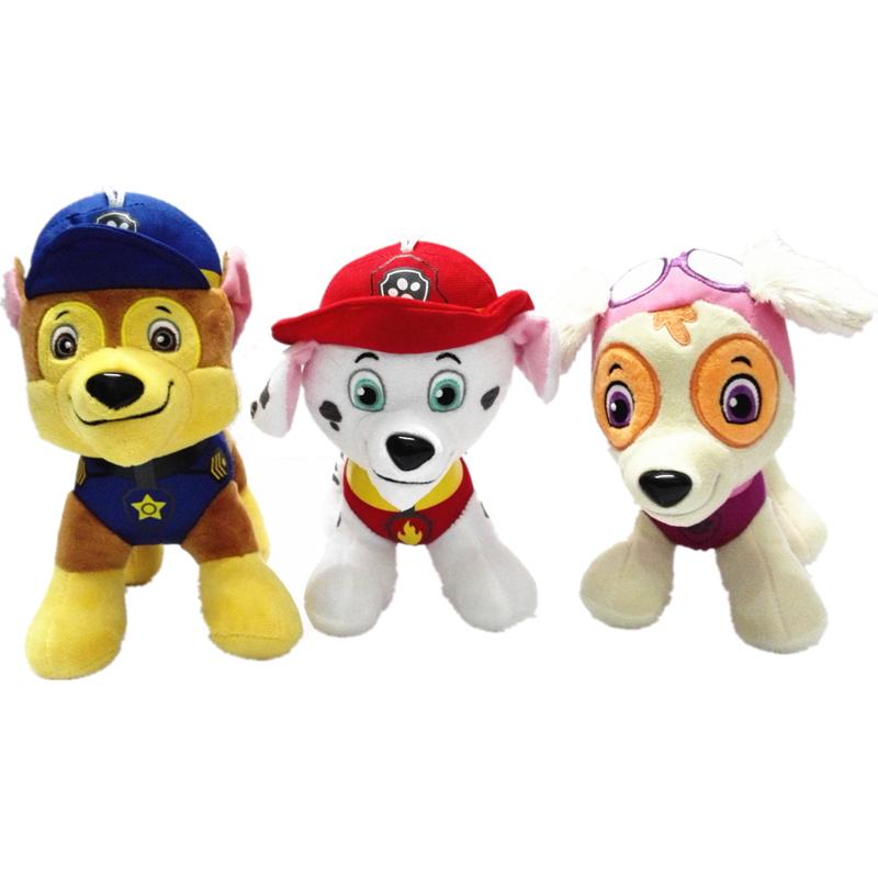 7 Styles Patrol Toys Plush 20cm Cartoon Plush Doll Dog, Children Toy Puppy Dog Patrol Anime Figure juguetes patrulla canina Toy(China (Mainland))