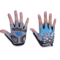Brand Half Finger Gloves Sports Fitness Gloves Training Body Workout Weight Lifting Gloves Blue Red Yellow